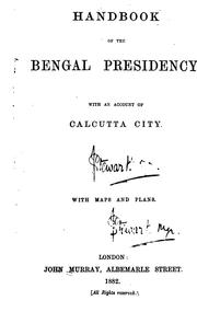 Cover of: Handbook of the Bengal Presidency