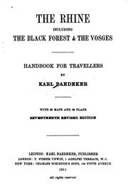 Cover of: The Rhine, including the Black Forest & the Vosges by Karl Baedeker (Firm)