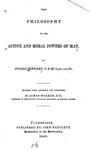 Cover of: The philosophy of the active and moral powers of man