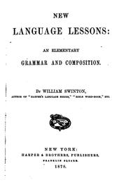Cover of: New language lessons | William Swinton