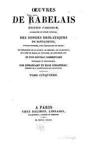 Cover of: Œuvres de Rabelais