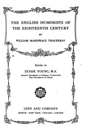 Cover of: The English humorists of the eighteenth century