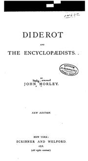 Cover of: Diderot and the encyclopædists