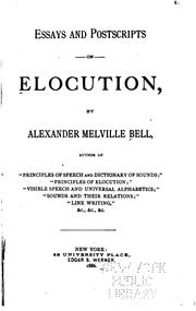 Cover of: Essays and postscripts on elocution