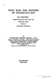 Who was the mother of Franklin's son by Charles Henry Hart