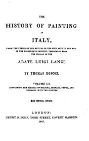 Cover of: The history of painting in Italy
