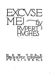 Cover of: Excvse me!