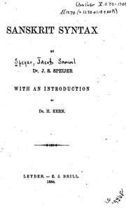 Cover of: Sanskrit syntax
