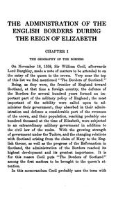 Cover of: The administration of the English borders during the reign of Elizabeth. | C. A. Coulomb