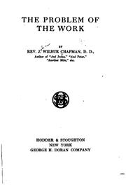 Cover of: The problem of the work