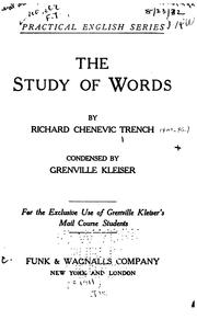 Cover of: The study of words
