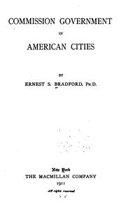 Cover of: Commission government in American cities