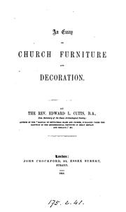 Cover of: An essay on church furniture and decoration