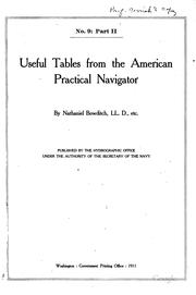 Useful tables from the American practical navigator by Nathaniel Bowditch
