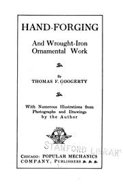 Cover of: Hand-Forging and Wrought-Iron Ornamental Work | Thomas F. Googerty