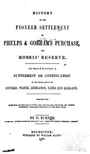 Cover of: History of the pioneer settlement of Phelps & Gorham