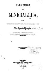 Cover of: Elementos de mineralojia
