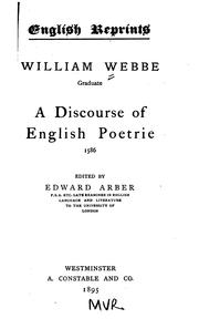 Cover of: A discourse of English poetrie. 1586