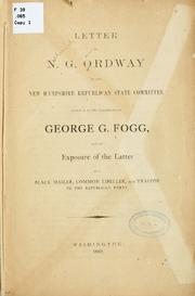 Cover of: Letter of N.G. Ordway to the New Hampshire Republican state committee | Nehemiah George Ordway