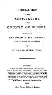 Cover of: General view of the agriculture of the County of Sussex