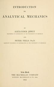 Cover of: Introduction to analytical mechanics