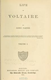 Cover of: Life of Voltaire