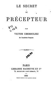 Cover of: Le secret du précepteur