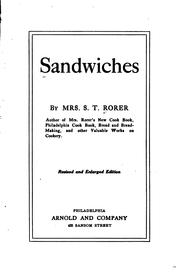 Sandwiches by Sarah Tyson Heston Rorer