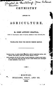 Cover of: Chymistry applied to agriculture