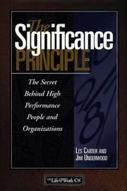Cover of: The significance principle