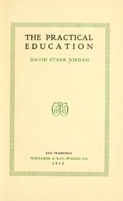 Cover of: The practical education