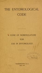 Cover of: The entomological code