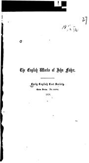 Cover of: English works of John Fisher | Fisher, John Saint