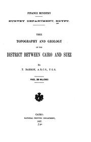 "Cover of: topography and geology of the district between Cairo and Suez | Egypt. MasМЈlahМЈat al-MisaМ""hМЈah."