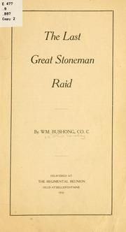 Cover of: The last great Stoneman raid. | William Bushong