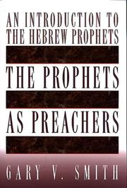 Cover of: The Prophets As Preachers