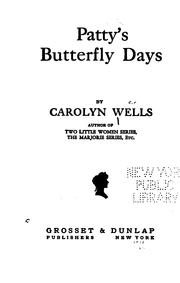Cover of: Patty's Butterfly Days