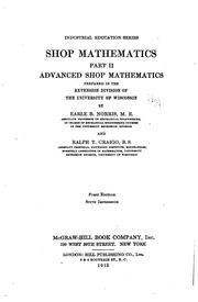 Cover of: Shop mathematics ... | Earle B. Norris