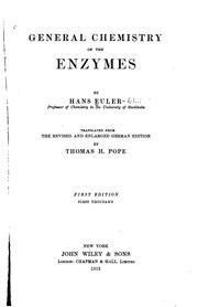 Cover of: General chemistry of the enzymes
