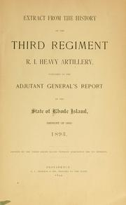 Cover of: Extract from the history of the Third Regiment R. I. Heavy Artillery by Rhode Island. Adjutant-General's Office.