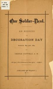 Cover of: Our soldier-dead