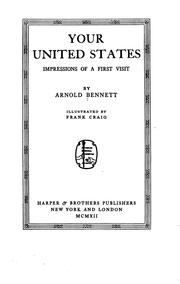 Cover of: Your United States | Arnold Bennett