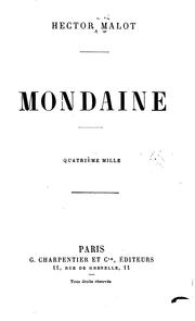 Cover of: Mondaine