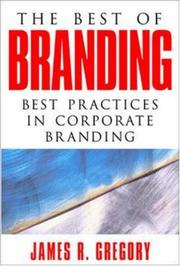 Cover of: The Best of Branding | James R. Gregory