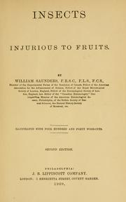 Cover of: Insects injurious to fruits. | Saunders, William