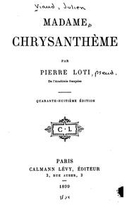Cover of: Madame Chrysanthème