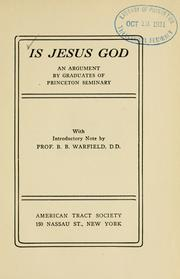 Cover of: Is Jesus God |
