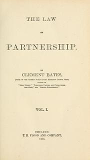 Cover of: The law of partnership