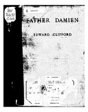 Cover of: Father Damien | Clifford, Edward