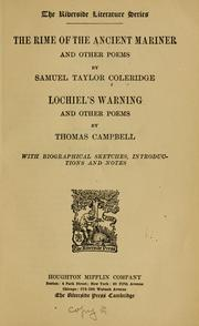 Cover of: The rime of the ancient mariner and other poems | Samuel Taylor Coleridge